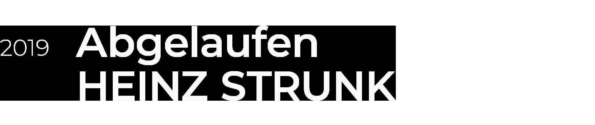 HEINZ STRUNK - Abgelaufen